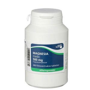 Magnesia 500 mg - 200 tabletter