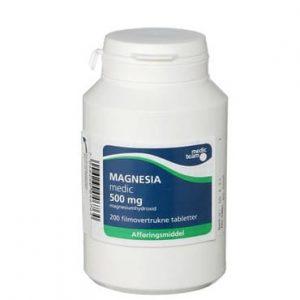 Magnesia 500mg (200 stk.)