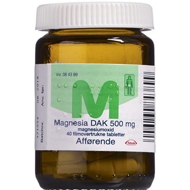 "Magnesia ""DAK"" 40 stk Filmovertrukne tabletter"