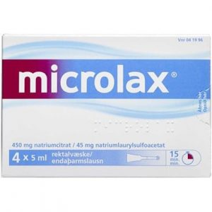 Microlax 20 ml Rektalvæske, opløsning, enkeltdosisbeholder