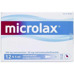 Microlax Rektalvæske OPL 9+90MG/ML (12 stk. 5ML)