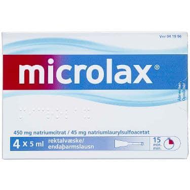 Microlax Rektalvæske OPL 9+90MG/ML (4 stk. 5ML)