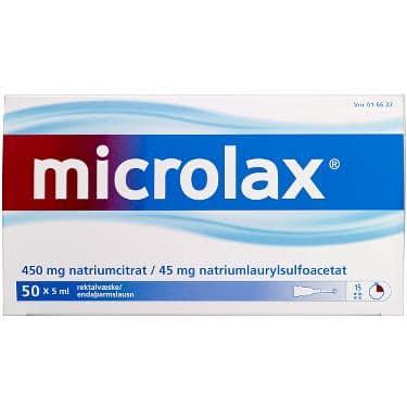 Microlax Rektalvæske OPL 9+90MG/ML (50 stk. 5ML)
