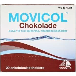 Movicol Chokolade 20 stk Pulver til oral opløsning, enkeltdosisbeholder