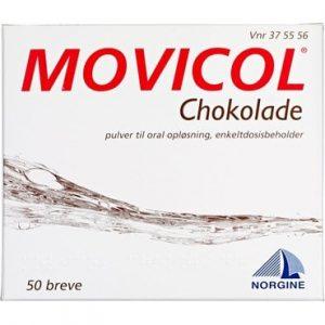 Movicol Chokolade 50 stk Pulver til oral opløsning, enkeltdosisbeholder