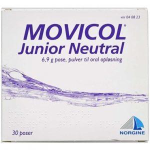 Movicol Junior Neutral 30 stk Pulver til oral opløsning