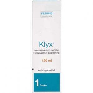 Klyx 1 + 250 mg/ml 120 ml Rektalvæske, opløsning