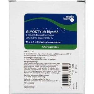 Glyoktyl 6 + 770 mg/ml 112,5 ml Klysma